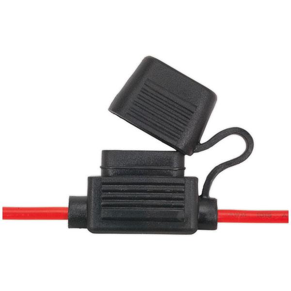 Image of Sealey FHSP20 Standard Blade Fuse Holder Splashproof 20Amp Pack of 10