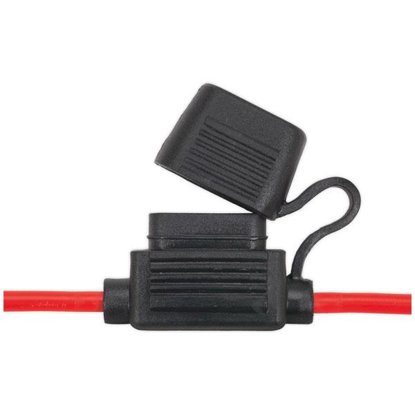 Image of Sealey FHSP30 Standard Blade Fuse Holder Splashproof 30Amp Pack of 10