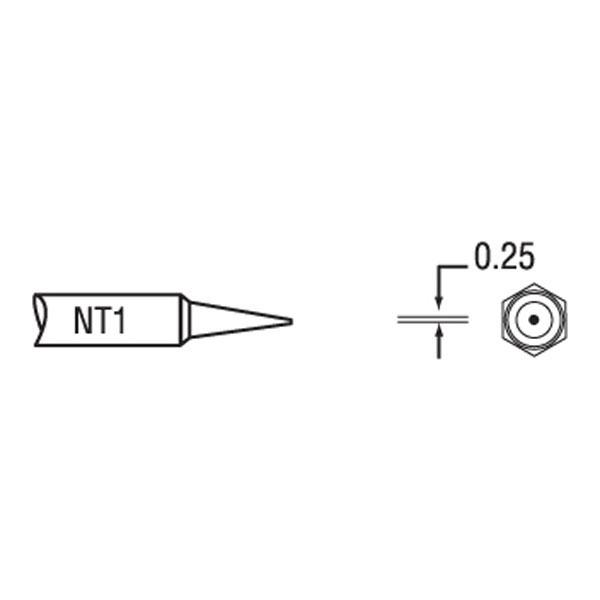 Weller NT1 NT 1 Solder Tip - Round Tip Ø0.25 x 7.4mm