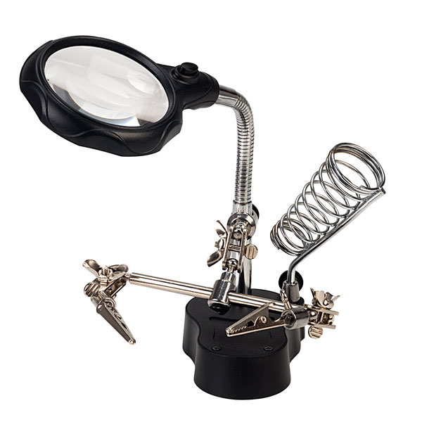 Helping Hands Magnifier with Ball joints on all Angles and Solder Stand