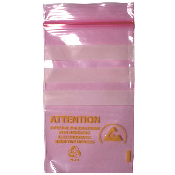Pack of 10 Antistatic Conuductive Bag 75 x 125 mm