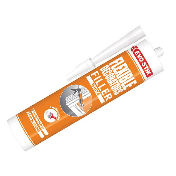 Evo-Stik 30811727 Decorators Flexible Acrylic Filler C20 - White