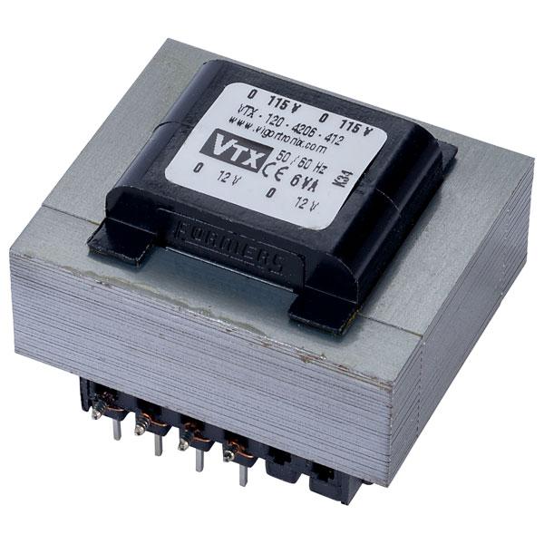Vigortronix VTX-120-4206-412 PCB Transformer 115V+115V 6VA 12V+12V