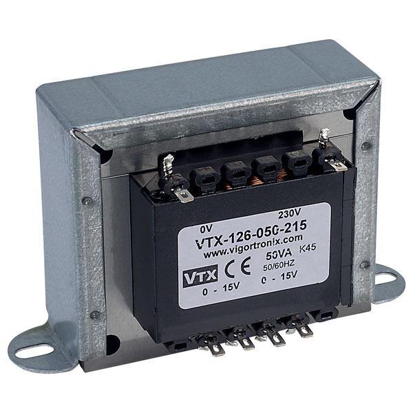 Vigortronix VTX-126-006-220 Chassis Transformer 230V 6VA 20V+20V