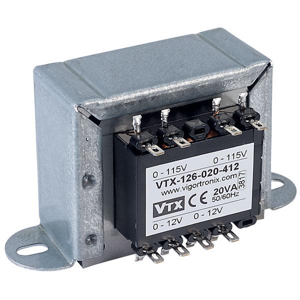 Vigortronix VTX-126-075-418 Chassis Transformer 2x115V 75VA 18V+18V