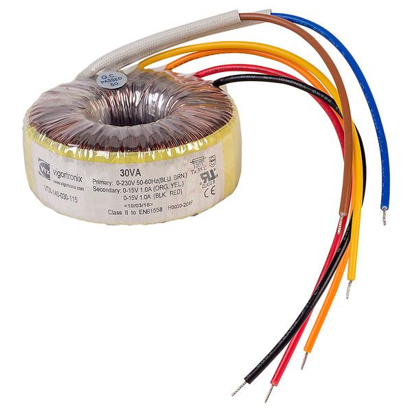 Vigortronix vtx-146-030-112 toroidal transformer 230 V Single Primary 30va 0-12 V
