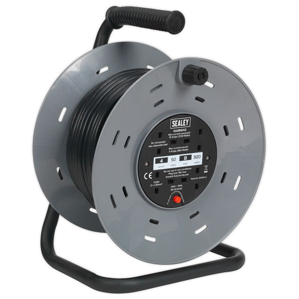 Sealey BCR50 Cable Reel 50mtr 2 x 230V