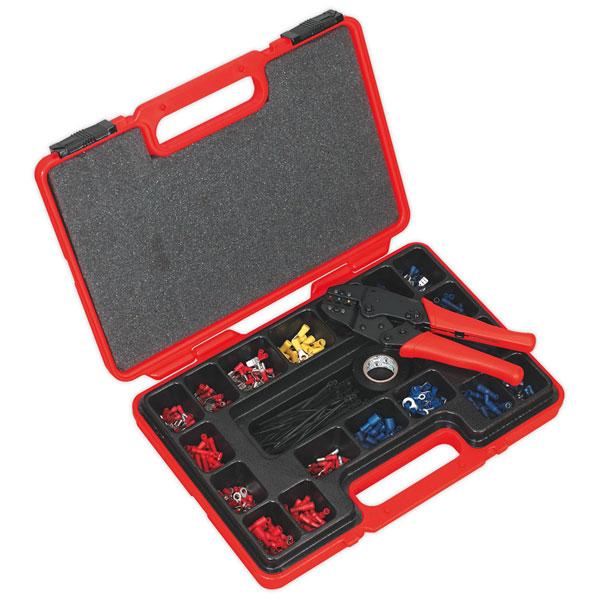 Sealey AK386 Ratchet Crimping Tool Kit 552pc