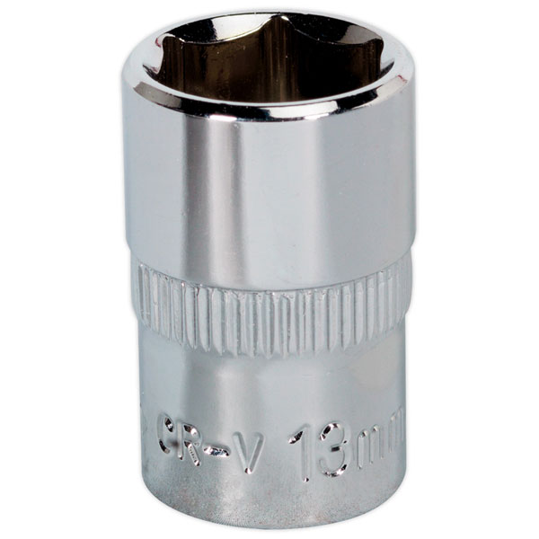 "SP3813 Sealey WallDrive® Socket 13mm 3//8/""Sq Drive Fully Polished"