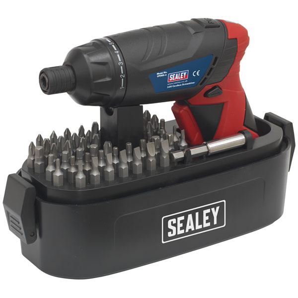Sealey CP36S Cordless Screwdriver Set 53pc 3.6V Lithium-ion