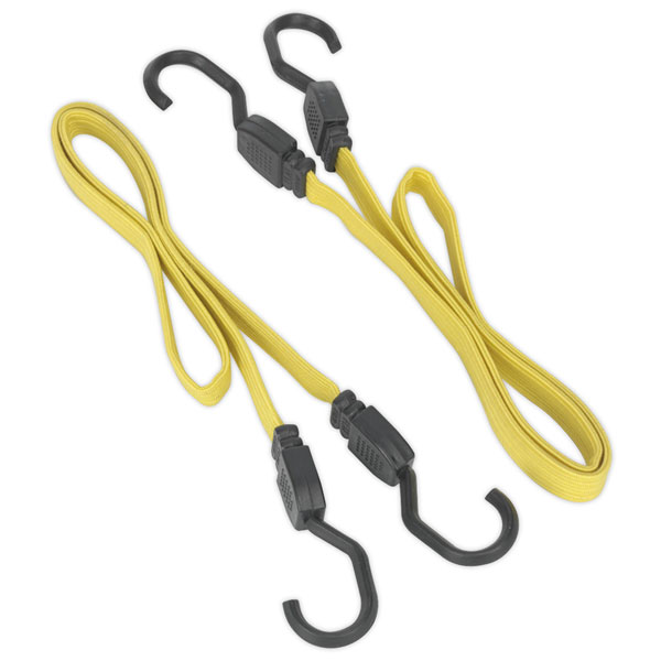 Image of Sealey BCS18 910mm Flat Bungee Cord Set 2pc