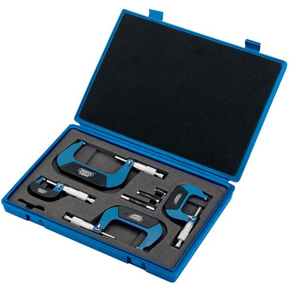 Draper 46607 Metric External Micrometre Set  Set of 4 Pieces