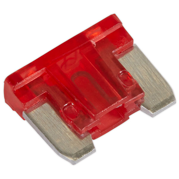 Image of Sealey MIBF10 Automotive MICRO Blade Fuse 10A - Pack of 50