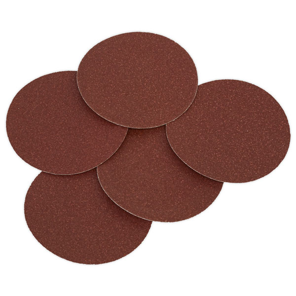 Sealey SSD01 Sanding Disc Ø125mm 80Grit Adhesive Backed Pack of 5