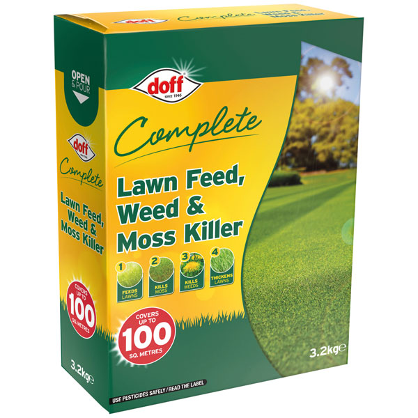 Garden Tools DOFF F-LM-100-DOF-04 Complete Lawn Feed, Weed & Moss Killer 3.2kg