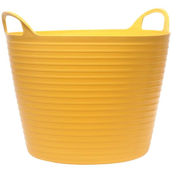 Faithfull FAIFLEX60Y Heavy-Duty Polyethylene Flex Tub 60 litres Yellow