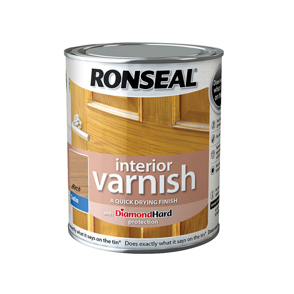 Ronseal 36822 Interior Varnish Quick Dry Satin Birch 250ml
