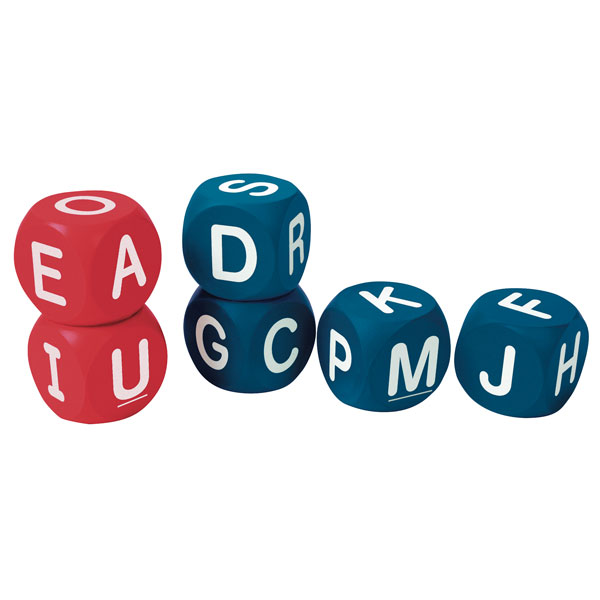 Image of Learning Resources Soft Foam Phonics Cubes Class Set