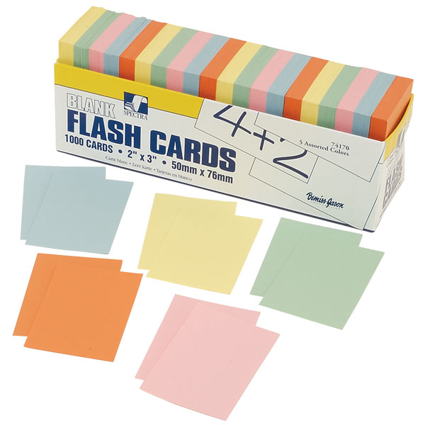 Image of RVFM Small Flash Cards-assorted Pack 1000