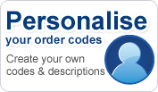 Personalise your part numbers