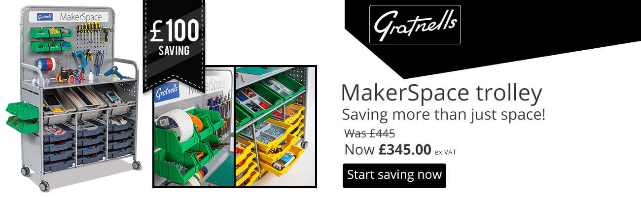 Gratnells MakerSpace Trolley Save £100
