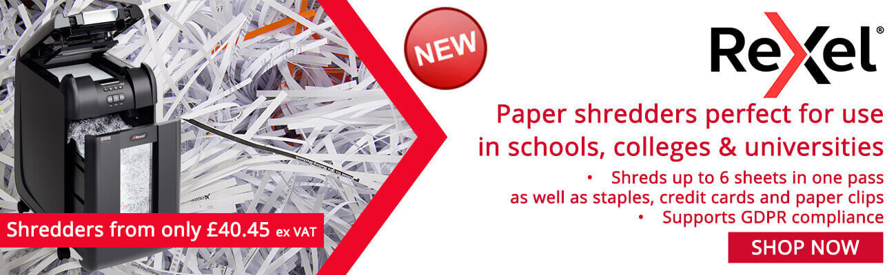 Paper shredders perfect for use in schools, colleges & universities