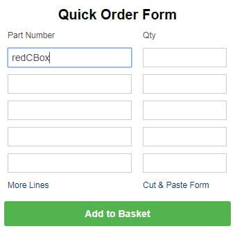 Your personalised quick order form
