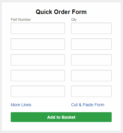 Quick Order Form