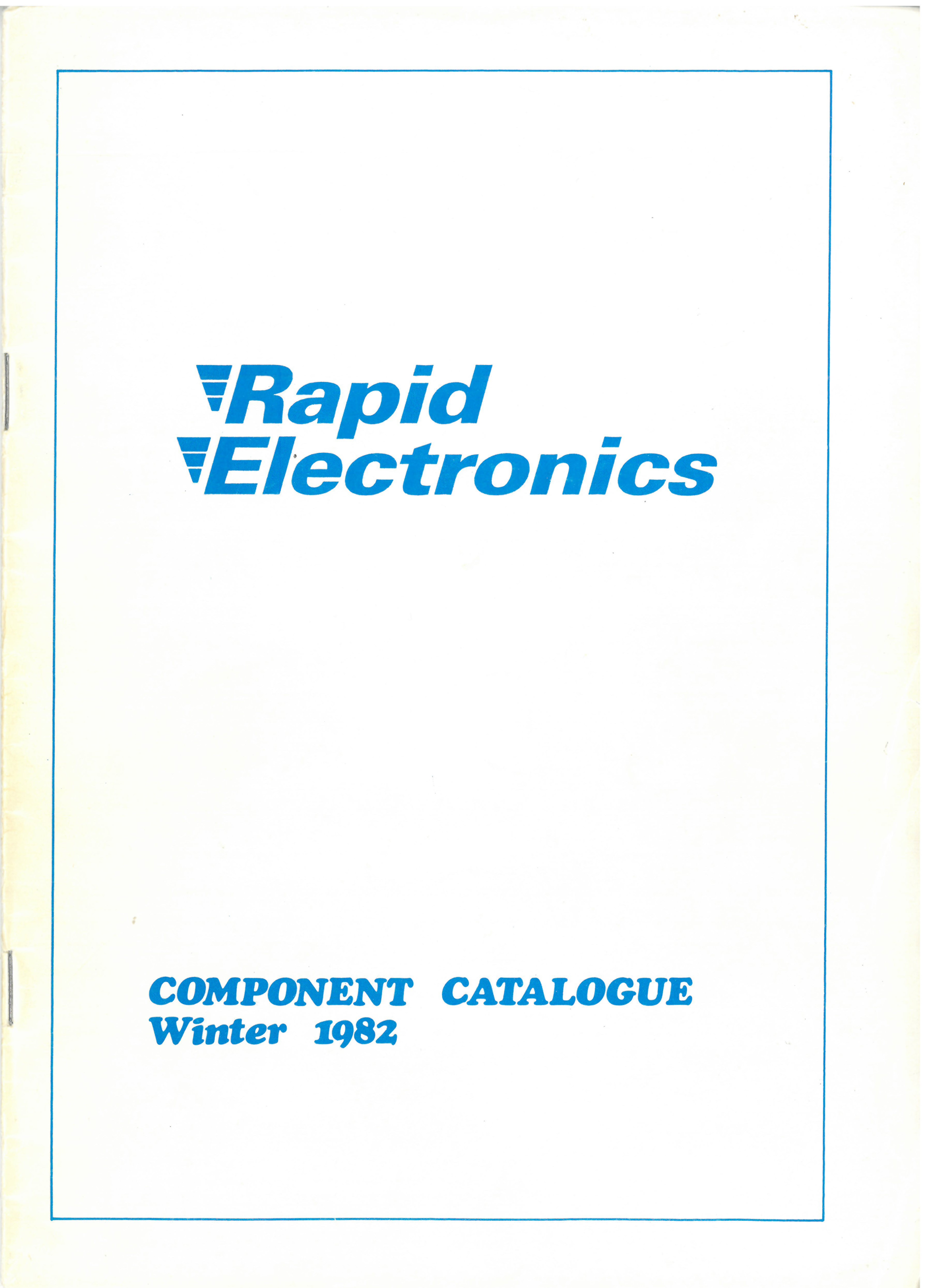 1982 - First catalogue printed