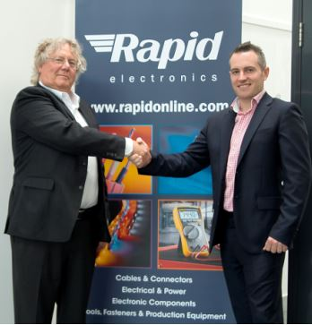 Mr Hammond with James Bates, CEO of Rapid Electronics