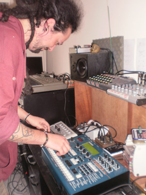 James Radford at work in his studio