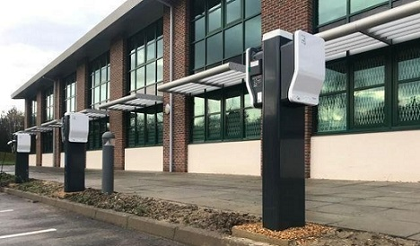 Schneider chargers fitted at Southampton Business Park
