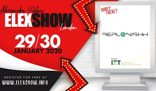 Visit Replenishh at Elexshow this month!
