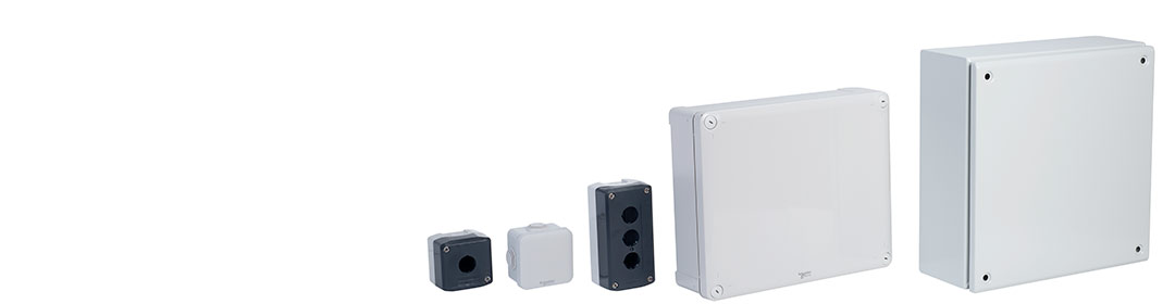 Schneider Electric ENN05001 IP55 Circular Junction Box Grey 60x60x40mm