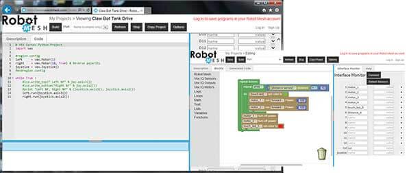 Vex Programming Software Rapid Online